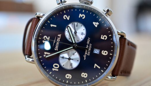 Zoom sur la Shinola Canfield Chrono 43mm