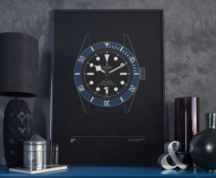 Nine37 : Poster Tudor Black Bay Blue