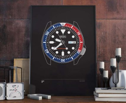 Nine37 : Poster Seiko SKX009 Black