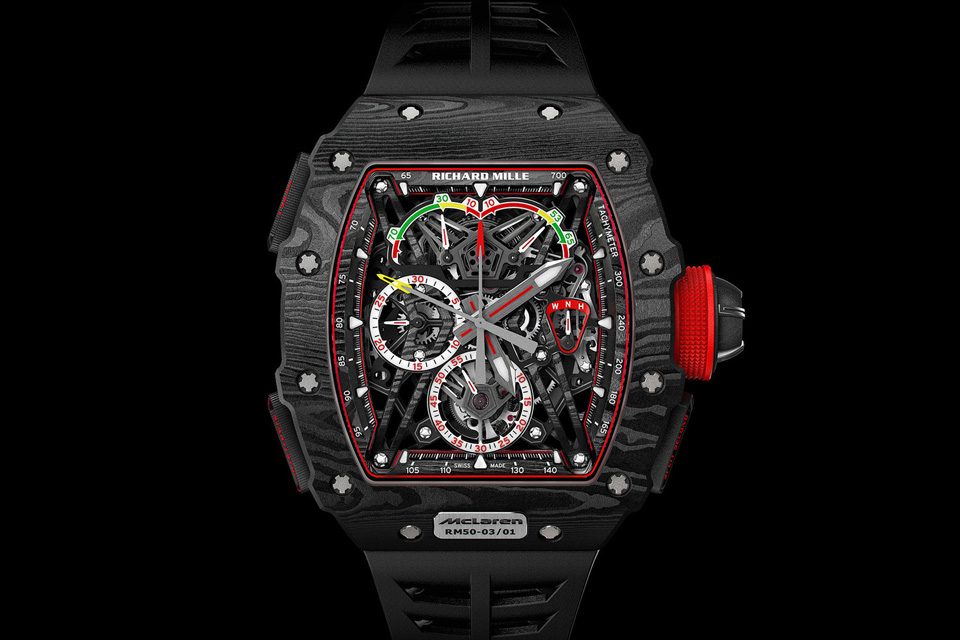 SIHH-Richard-Mille-RM-50-03-Tourbillon-Split-Seconds-Chronographe-Ultralight-MacLaren-F1-1