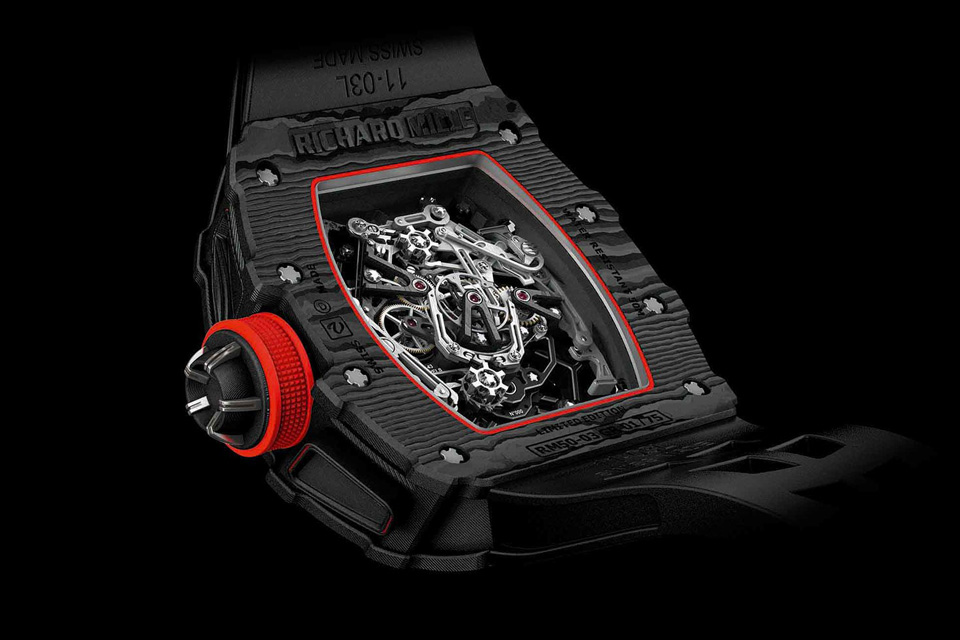 SIHH-Richard-Mille-RM-50-03-Tourbillon-Split-Seconds-Chronographe-Ultralight-MacLaren-F1-5