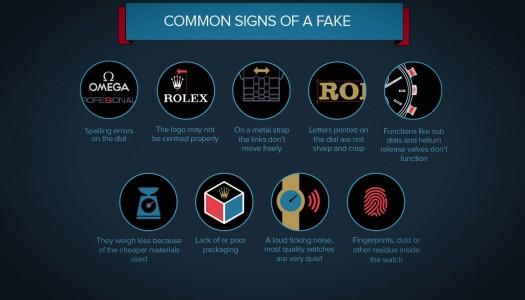 Infographie : Comment détecter les fausses Rolex, Omega et Tag Heuer