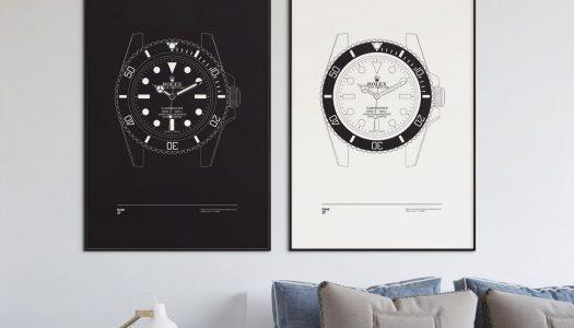 Nine37 : des illustrations de montres pour habiller vos murs